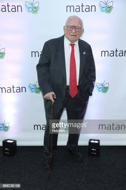 Ed Asner attends to be honored by the Jewish Inclusion Organization Matan at Chelsea Piers Sunset Terrace on May 8 2018 in New York City