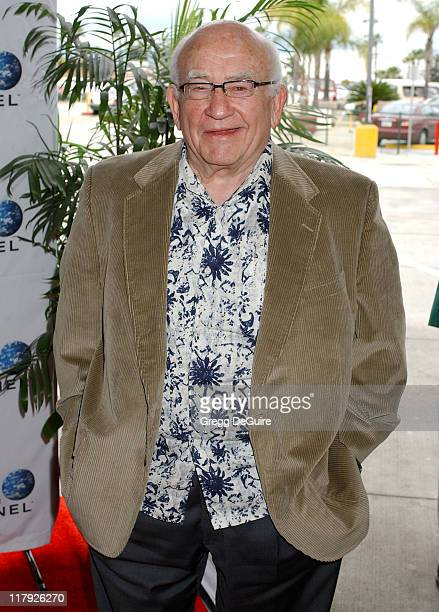 Ed Asner during 2005 World Poker Tour Invitational Arrivals at Commerce Casino in City of Commerce California United States