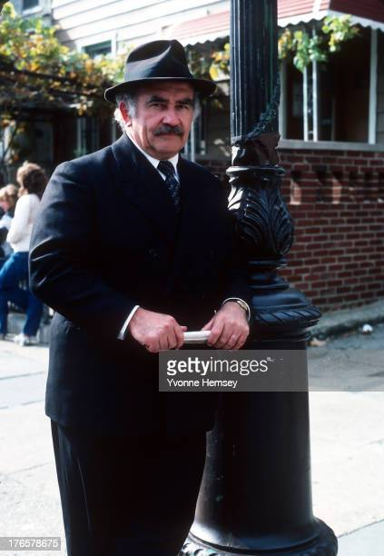 Ed Asner is photographed on the set of the movie 'Daniel' November 1 1982 in New York City