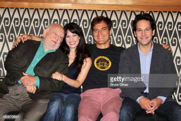 Ed Asner Kate Arrington Michael Shannon and Paul Rudd attend Broadway's Grace cast photocall at the Grace Hotel on August 21 2012 in New York City
