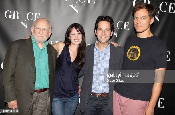 Ed Asner Kate Arrington Paul Rudd and Michael Shannon attend Broadway's Grace cast photocall at the Grace Hotel on August 21 2012 in New York City