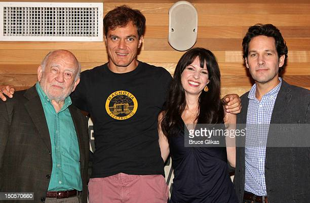 Ed Asner Michael Shannon Kate Arrington and Paul Rudd attend Broadway's Grace cast photocall at the Grace Hotel on August 21 2012 in New York City