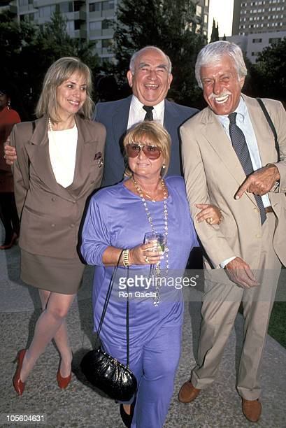 Ed Asner Michelle Triola and Dick Van Dyke during 43rd Annual Emmy Awards PreEmmy Award Gala at Westwood Marquis Hotel in Westwood California United...