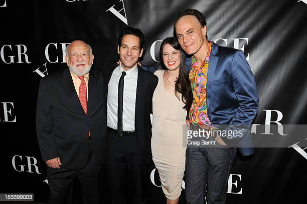 Ed Asner Paul Rudd Kate Arrington and Michael Shannon attend the Grace Broadway opening night after party at the Copacabana on October 4 2012 in New...