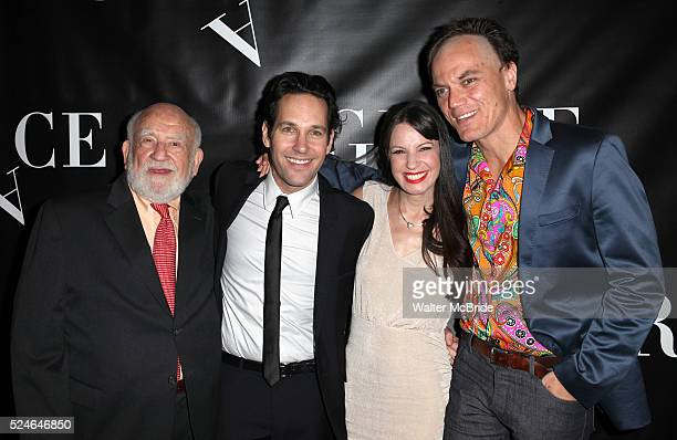 Ed Asner Paul Rudd Kate Arrington and Michael Shannon attending the Opening Night Performance After Party for 'Grace' at The Copacabana in New York...