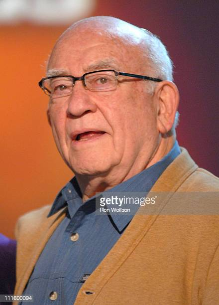 Ed Asner presenter during 13th Annual Screen Actors Guild Awards Show at Shrine Auditorium in Los Angeles California United States