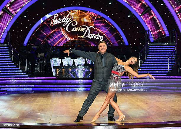 Ed Balls and Katya Jones attend Strictly Come Dancing Live Tour Photocall on January 19 2017 in Birmingham England