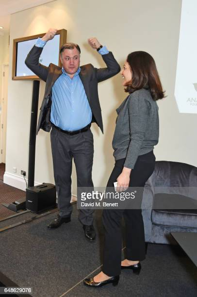 Ed Balls and Mishal Husain attend the 'Turn The Tables' lunch hosted by Tania Bryer and James Landale in aid of Cancer Research UK at BAFTA...
