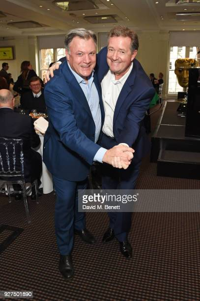 Ed Balls and Piers Morgan attend Turn The Tables 2018 hosted by Tania Bryer and James Landale in aid of Cancer Research UK at BAFTA on March 5 2018...