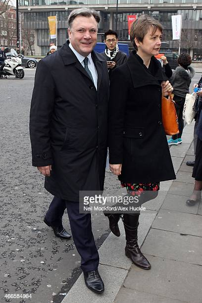 Ed Balls attends a Memorial Service for Sir Richard Attenborough at Westminster Abbey on March 17 2015 in London England