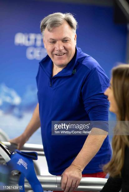 Ed Balls during training for the Comic Relief Kilimanjaro climb on January 30 2019 in London England