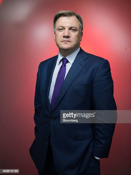 Ed Balls finance spokesman for the opposition Labour Party poses for a photograph following a Bloomberg Television interview in London UK on Monday...
