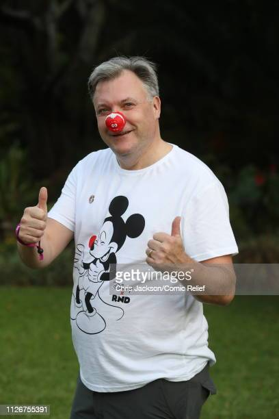 Ed Balls poses for a photo ahead of 'Kilimanjaro The Return' for Red Nose Day on February 22 2019 in Arusha Tanzania all to raise funds for Comic...