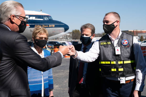 GA: Governor Brian Kemp Tours Delta Mass Vaccination Site