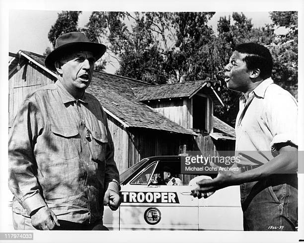 Ed Begley argues with D'Urville Martin in a scene from the film 'A Time to Sing' 1968