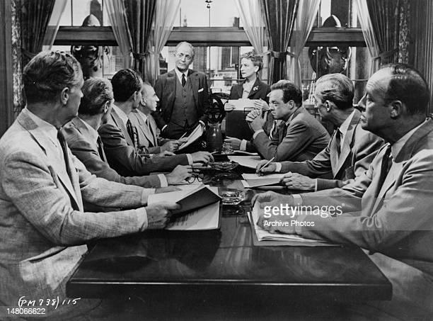 Ed Begley Everett Sloane Van Heflin and board members gather in meeting in a scene from the film 'Patterns' 1956