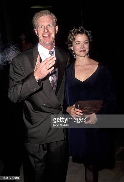 Ed Begley Jr and Annette Bening during 48th Annual Golden Globe Awards at Beverly Hilton Hotel in Beverly Hills California United States
