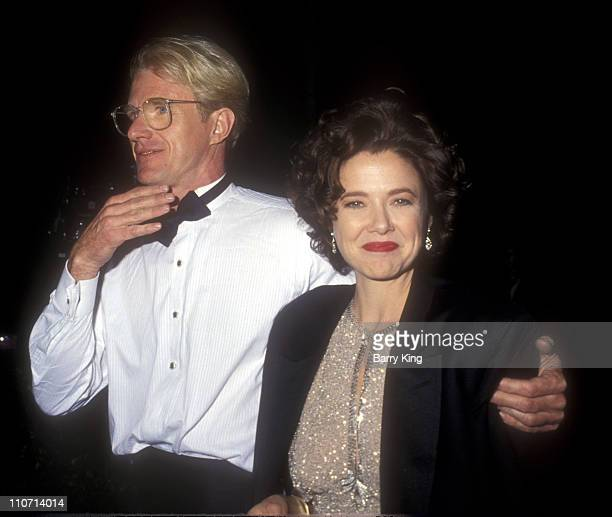 Ed Begley Jr and Annette Bening during 63rd Annual Academy Awards at Shrine Auditorium in Los Angeles California United States