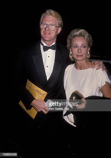 Ed Begley Jr and Camilla Sparv during Maple Center Gala at Beverly Hilton Hotel in Beverly Hills California United States