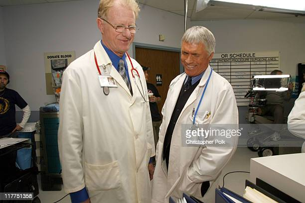 Ed Begley Jr and Chad Everett during 2006 TV Land Awards Spoof of Grey's Anatomy at Robert Kennedy Medical Center in Los Angeles California United...