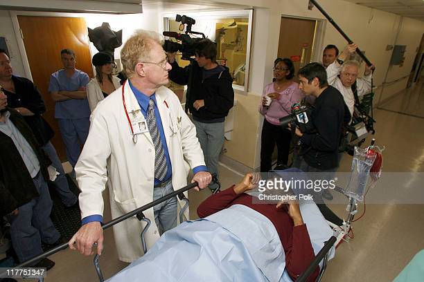Ed Begley Jr and Jimmie Walker during 2006 TV Land Awards Spoof of Grey's Anatomy at Robert Kennedy Medical Center in Los Angeles California United...