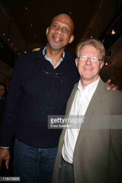 Ed Begley Jr and Kareem AbdulJabbar during Kathy Ireland Debuts her New Line of House of Taylor Jewelry at Geary's in Beverly Hills California United...