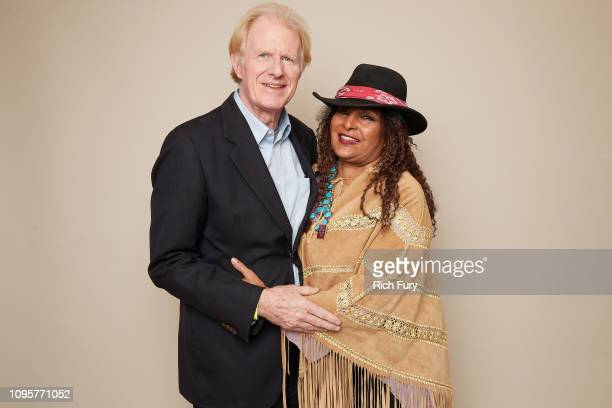 Ed Begley Jr and Pam Grier of ABC's 'Bless This Mess' pose for a portrait during the 2019 Winter TCA Getty Images Portrait Studio at The Langham...