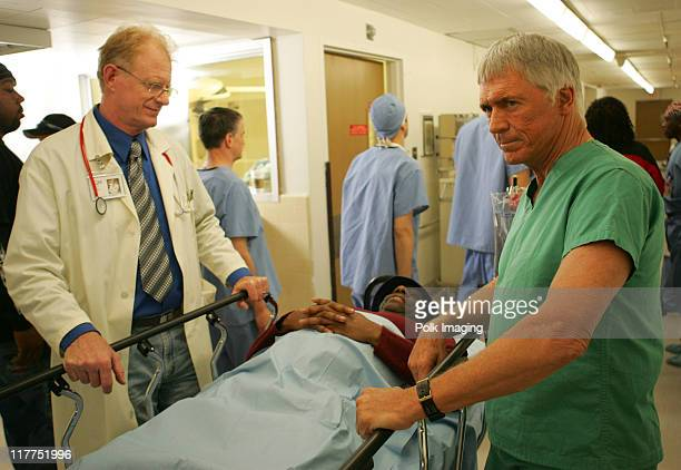 Ed Begley Jr Jimmie Walker and Chad Everett during 2006 TV Land Awards Spoof of Grey's Anatomy at Robert Kennedy Medical Center in Los Angeles...
