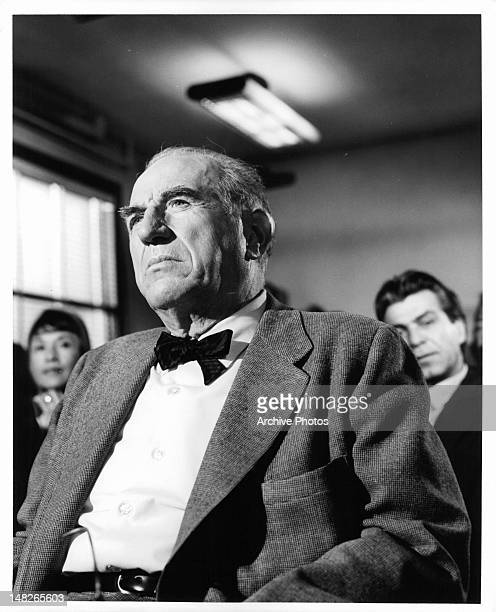 Ed Begley with bow tie in a scene from the television film 'Warning Shot' 1967