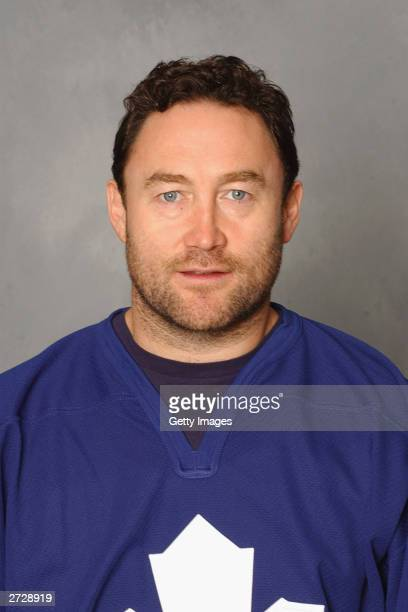 Ed Belfour of the Toronto Maple Leafs poses for a portrait on September 15 2003 at the Air Canada Centre in Toronto Ontario Canada