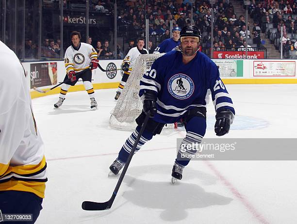 Ed Belfour skates during the Legends Classic Game at the Air Canada Centre on November 13 2011 in Toronto Ontario Canada