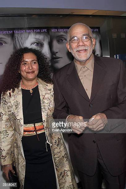 Ed Bradley and wife arriving at the world film premiere of Miramax's 'Iris' at the Paris Theatre in New York City 12/2/2001 Photo Evan Agostini/Getty...