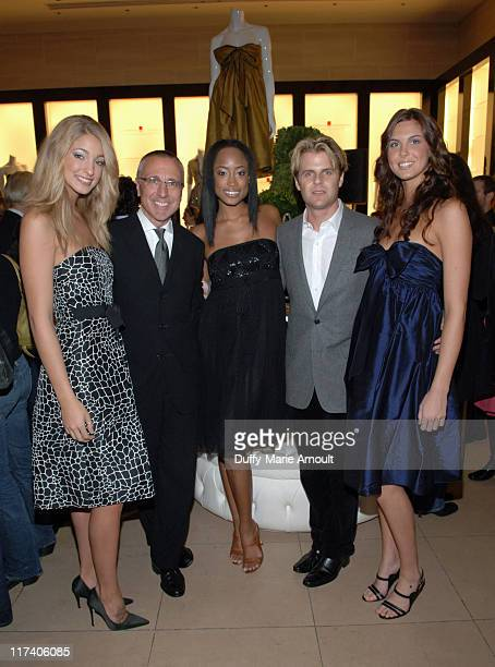 Ed Bucciarelli CEO and President of Henri Bendel and Adam Lippes with models wearing Adam Eve