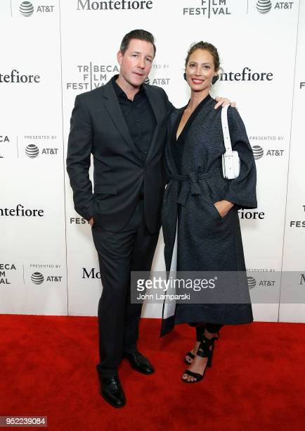 Ed Burns and Christy Turlington attend 2018 Tribeca Film Festival presentation of Summertime at BMCC Tribeca PAC on April 27 2018 in New York City