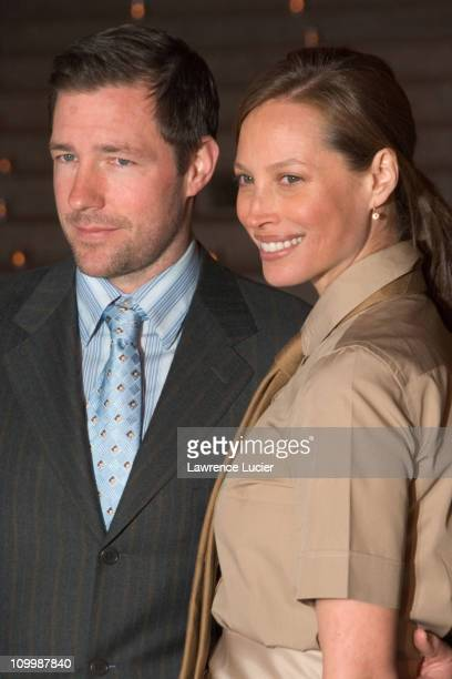 Ed Burns and Christy Turlington during 5th Annual Tribeca Film Festival Vanity Fair Party Arrivals at New York State Supreme Court in New York City...