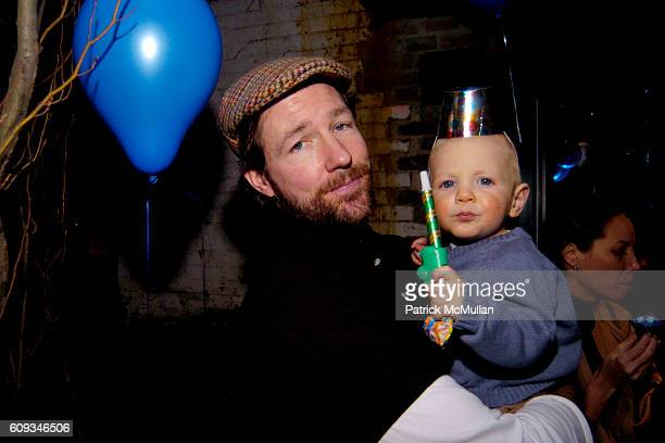 Ed Burns and Finn Burns attend August Janklow's Birthday Party at Private Residence on January 14 2007 in New York City