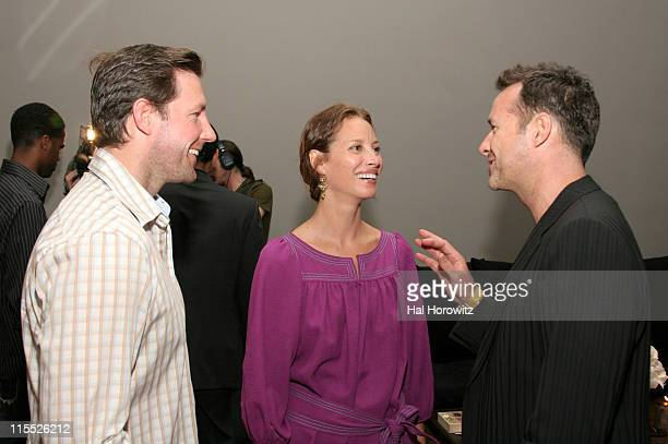 Ed Burns Christy Turlington and James Houston during Donna Karan Launches Urban Zen Initiative Launch Party at 711 Greenwich in New York City New...