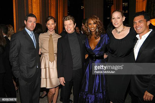 Ed Burns Christy Turlington David Bowie Iman Amy Sacco and Andre Balazs attend VANITY FAIR Tribeca Film Festival Party hosted by Graydon Carter and...