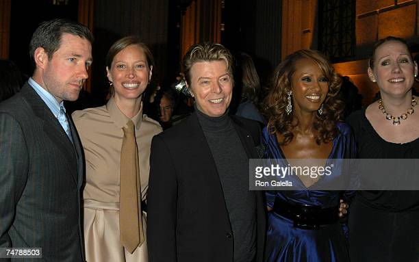 Ed Burns Christy Turlington David Bowie Iman and Amy Sacco at the The State Supreme Courthouse in New York City New York