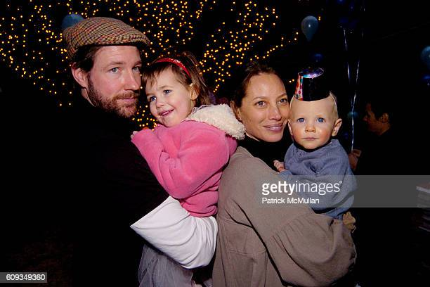 Ed Burns Grace Burns Christy Turlington and Finn Burns attend August Janklow's Birthday Party at Private Residence on January 14 2007 in New York City