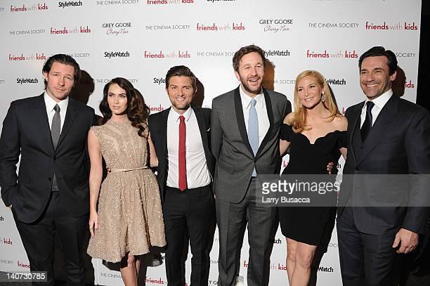 Ed Burns Megan Fox Adam Scott Chris O'Dowd director Jennifer Westfeldt and actor Jon Hamm attend the Cinema Society People StyleWatch with Grey Goose...