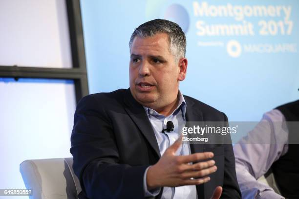 Ed Cabrera chief cybersecurity officer of Trend Micro Inc speaks during the Montgomery Summit in Santa Monica California US on Wednesday March 8 2017...