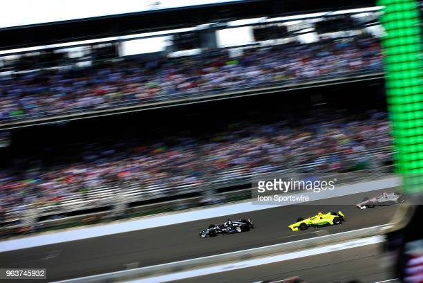 Ed Carpenter driver of the Ed Carpenter Racing Chevrolet leads the field to the start of the IndyCar Series Indianapolis 500 on May 27 at the...