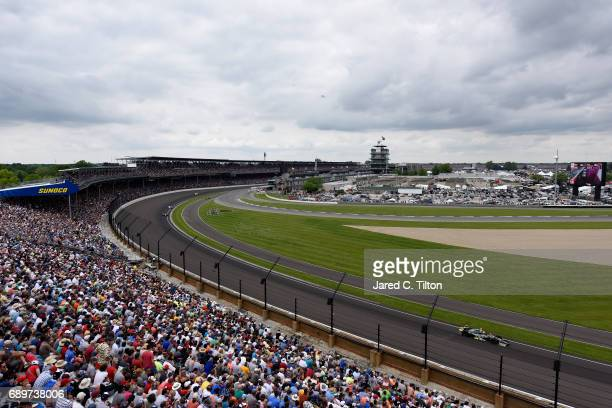 Ed Carpenter, driver of the Fuzzy's Vodka Chevrolet, races during the 101st Indianapolis 500 at Indianapolis Motorspeedway on May 28, 2017 in...