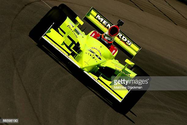 Ed Carpenter drives the Menards Vision Racing Dallara Honda during practice for the IRL Indycar Series Iowa Corn Indy 250 on June 20 2009 at the Iowa...