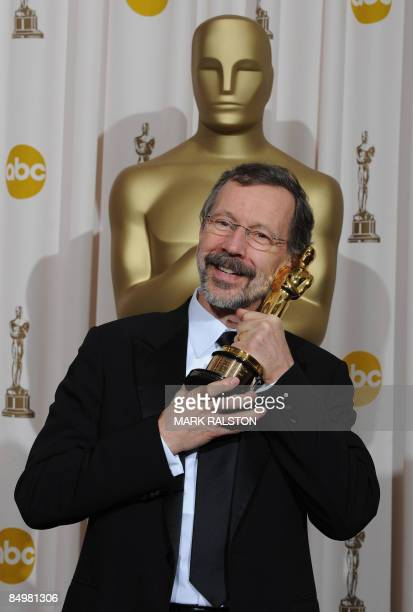 Ed Catmull poses with his Oscar he won for the Gordon E,. Sawyer Award for his technological contributions to the film industry at the 81st Academy...