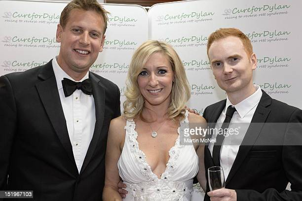 Ed Chamberlin Vicky Gomersall and guest attend a charity evening in aid of 'Cure for Dylan' at Stamford Bridge on September 13 2012 in London England