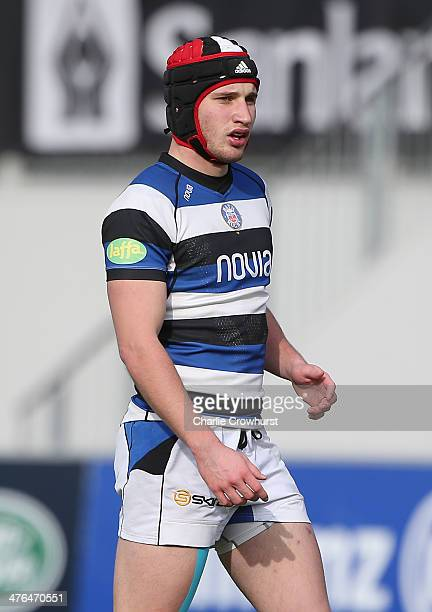 Ed Coulsen of Bath during the The U18 Academy Finals Day match between Bath and Gloucester at Allianz Park on February 17 2014 in Barnet England