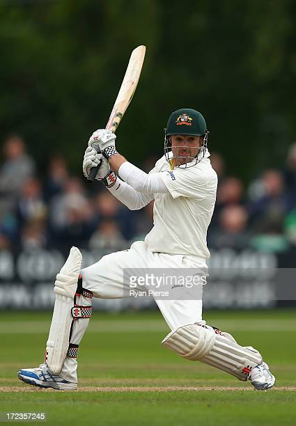 Ed Cowan of Australia bats during day one of the Tour Match between Worcestershire and Australia at New Road on July 2 2013 in Worcester England