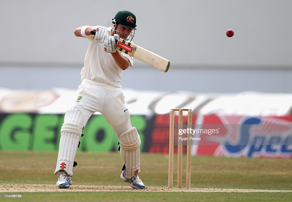 Ed Cowan of Australia bats during Day One of the Tour Match between Sussex and Australia at The County Ground on July 26, 2013 in Hove, England.